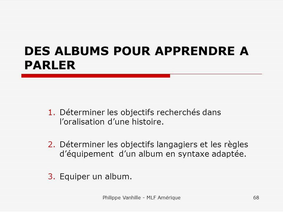 DES ALBUMS POUR APPRENDRE A PARLER