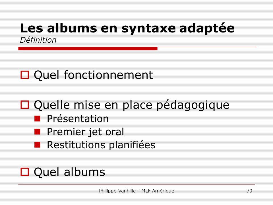 Les albums en syntaxe adaptée Définition