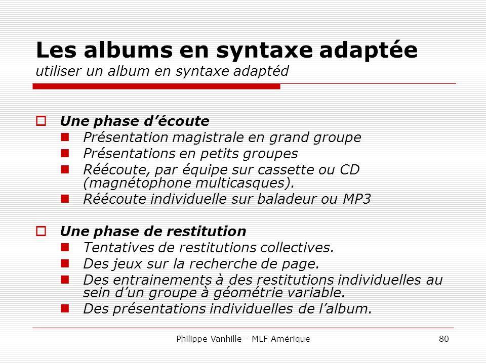 Les albums en syntaxe adaptée utiliser un album en syntaxe adaptéd