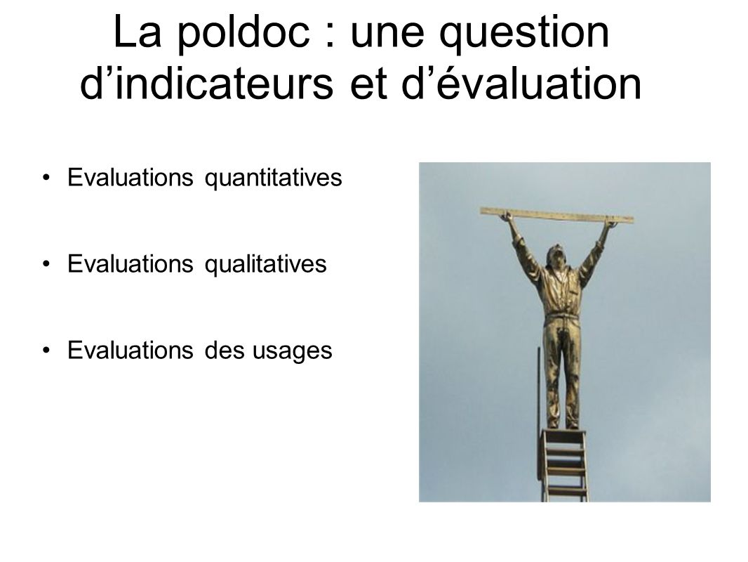 La poldoc : une question d'indicateurs et d'évaluation