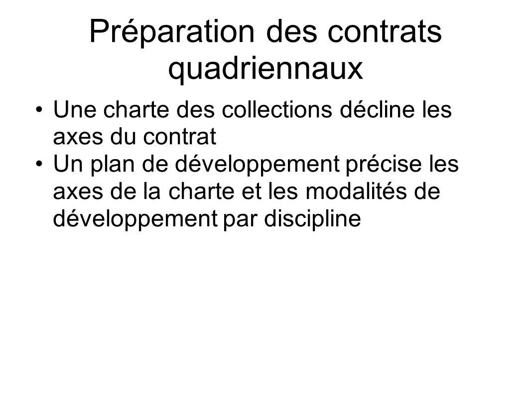 Préparation des contrats quadriennaux
