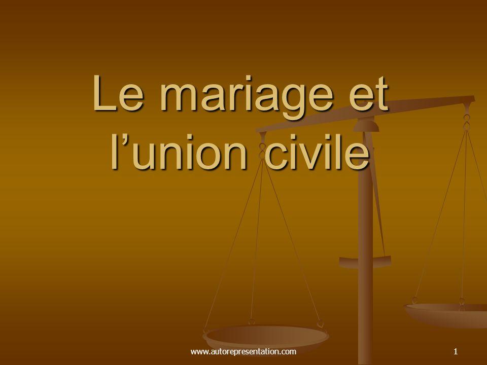 Le mariage et l'union civile