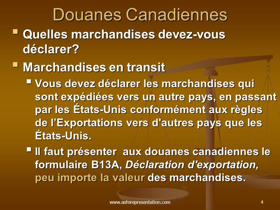 Douanes Canadiennes Quelles marchandises devez-vous déclarer