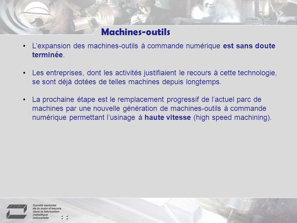 Machines-outils L'expansion des machines-outils à commande numérique est sans doute terminée.