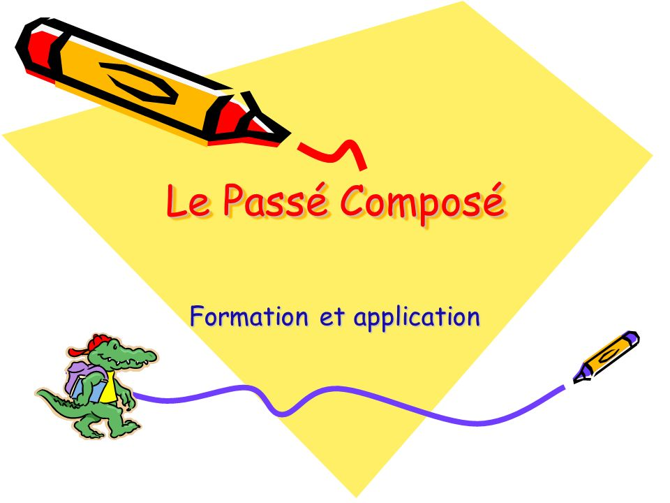 Formation et application
