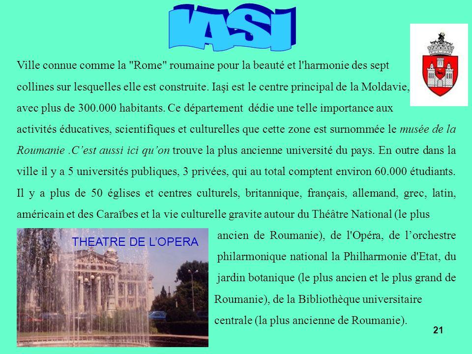 IASIVille connue comme la Rome roumaine pour la beauté et l harmonie des sept.