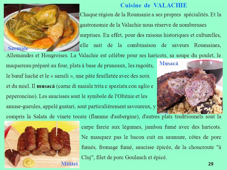 Cuisine de VALACHIE