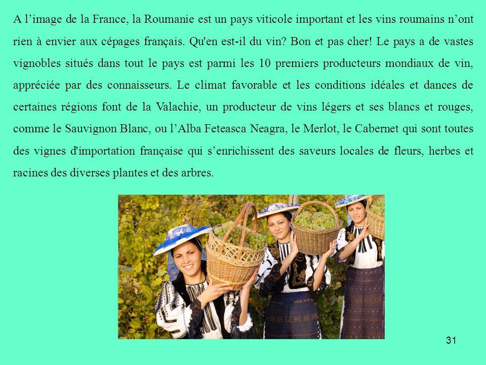 A l'image de la France, la Roumanie est un pays viticole important et les vins roumains n'ont rien à envier aux cépages français.