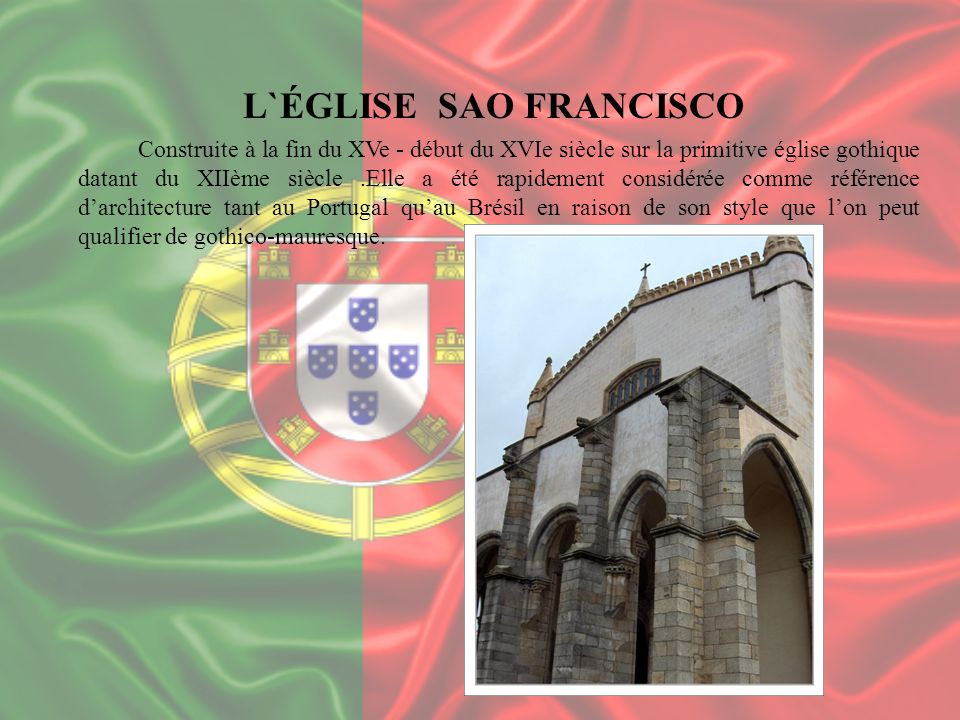 L`ÉGLISE SAO FRANCISCO