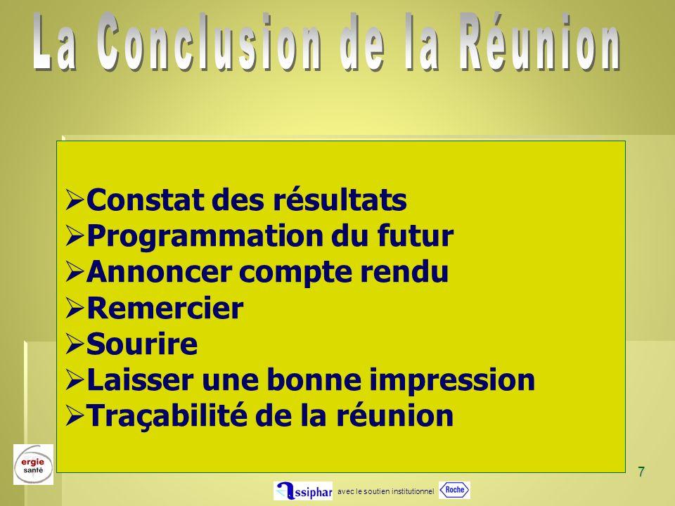 La Conclusion de la Réunion