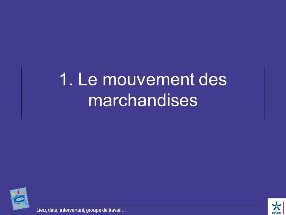 1. Le mouvement des marchandises