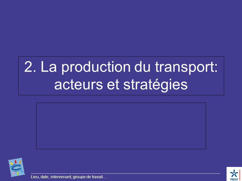 2. La production du transport: acteurs et stratégies