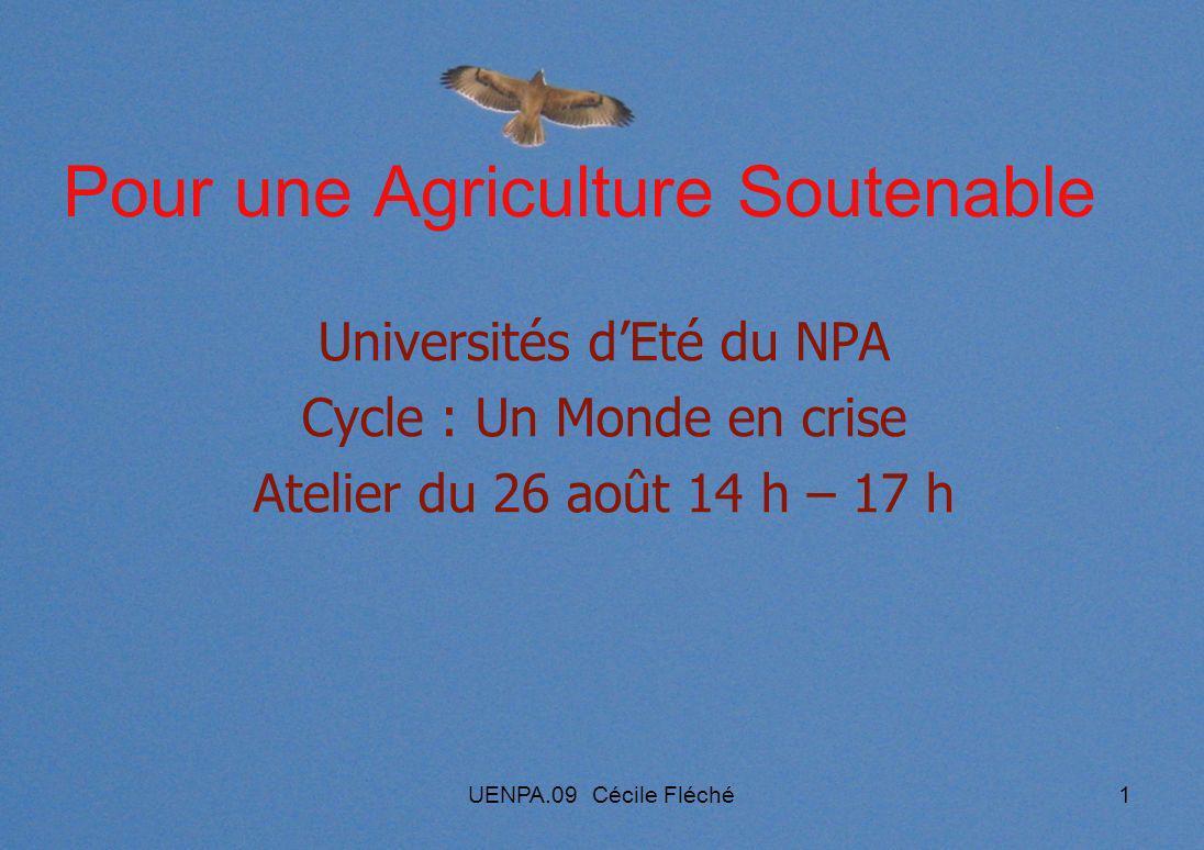 Pour une Agriculture Soutenable