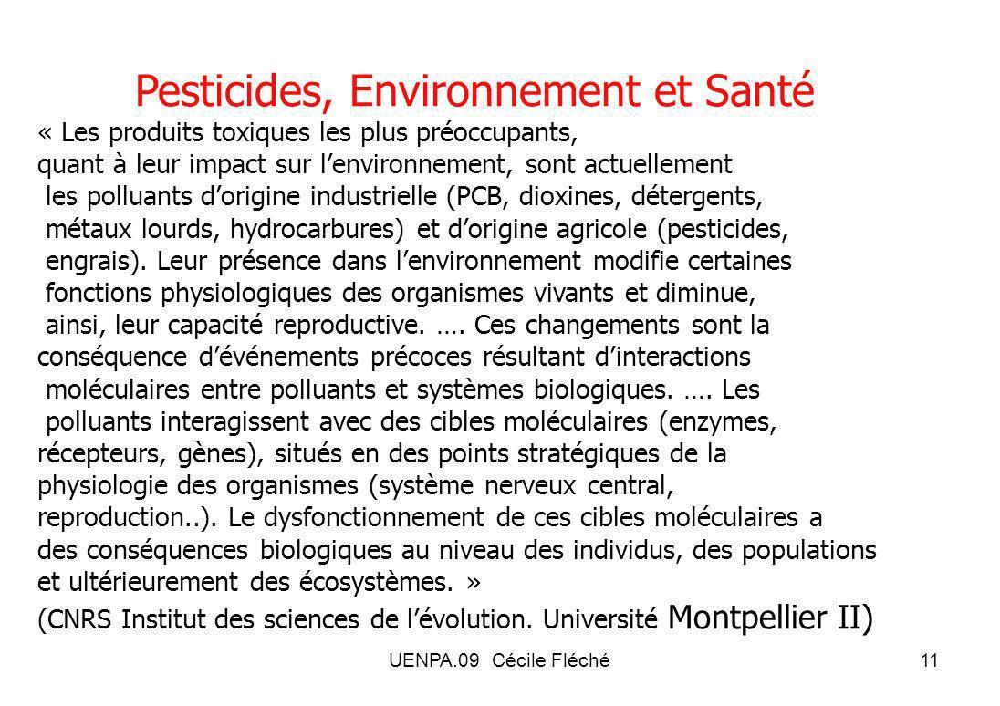 Pesticides, Environnement et Santé