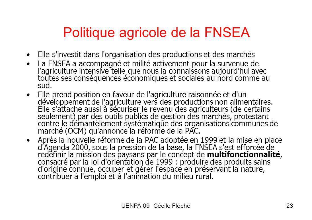 Politique agricole de la FNSEA