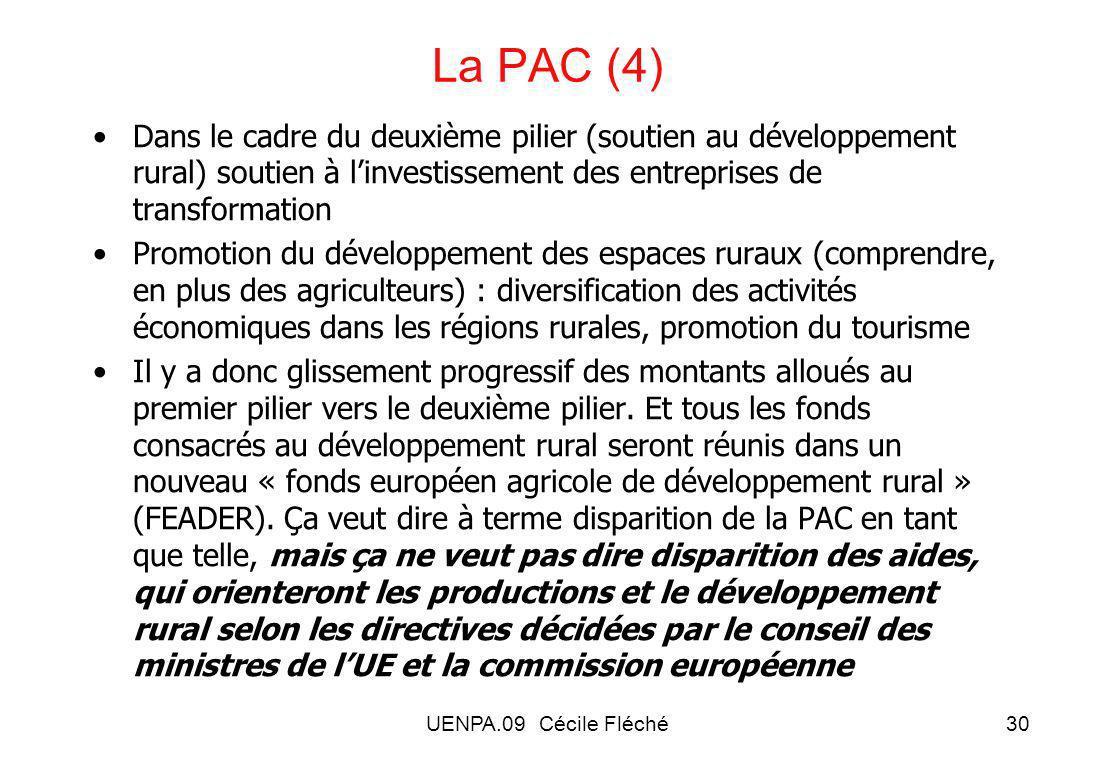 La PAC (4) Dans le cadre du deuxième pilier (soutien au développement rural) soutien à l'investissement des entreprises de transformation.