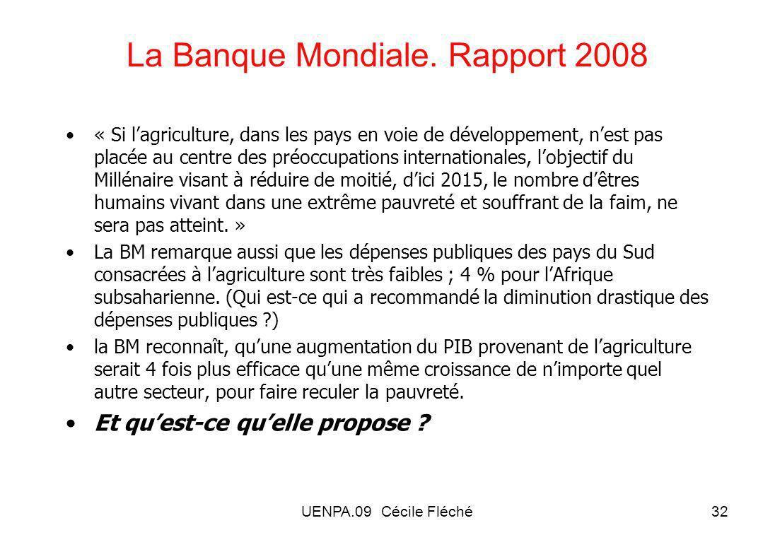 La Banque Mondiale. Rapport 2008