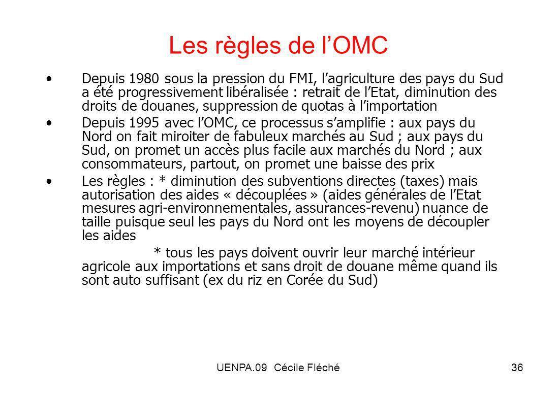 Les règles de l'OMC