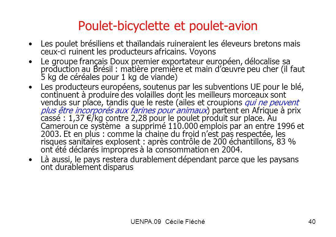 Poulet-bicyclette et poulet-avion