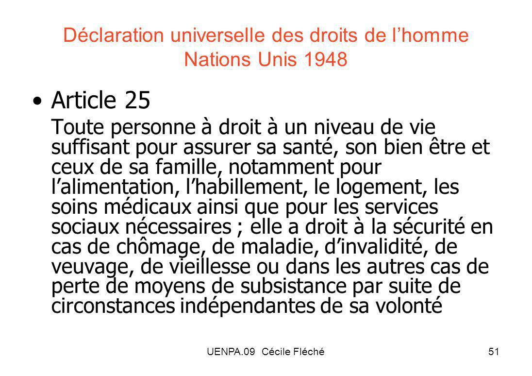Déclaration universelle des droits de l'homme Nations Unis 1948