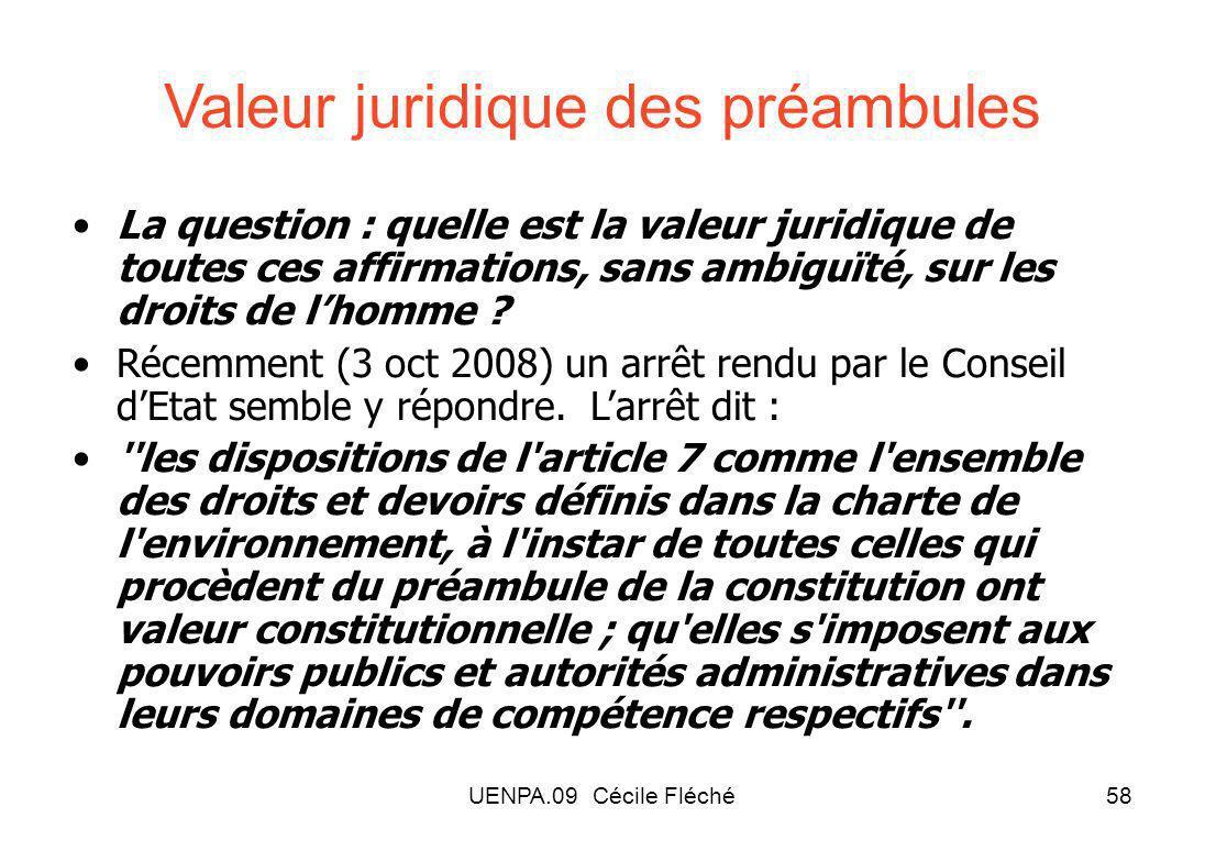 Valeur juridique des préambules