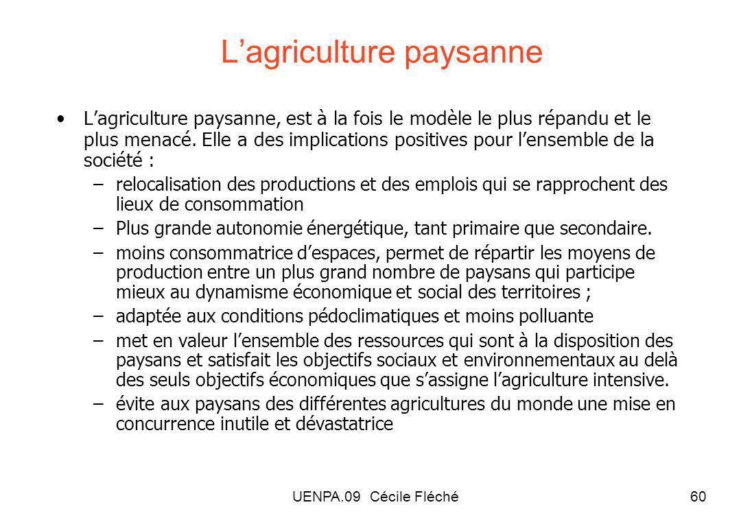 L'agriculture paysanne