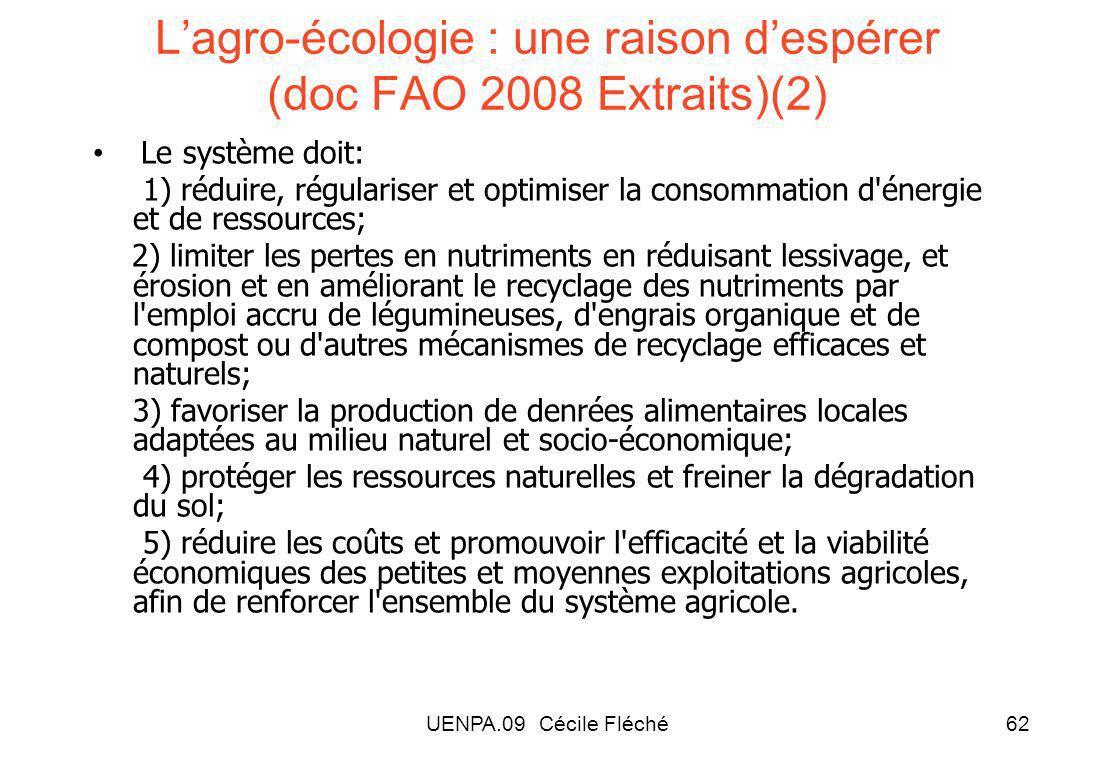 L'agro-écologie : une raison d'espérer (doc FAO 2008 Extraits)(2)