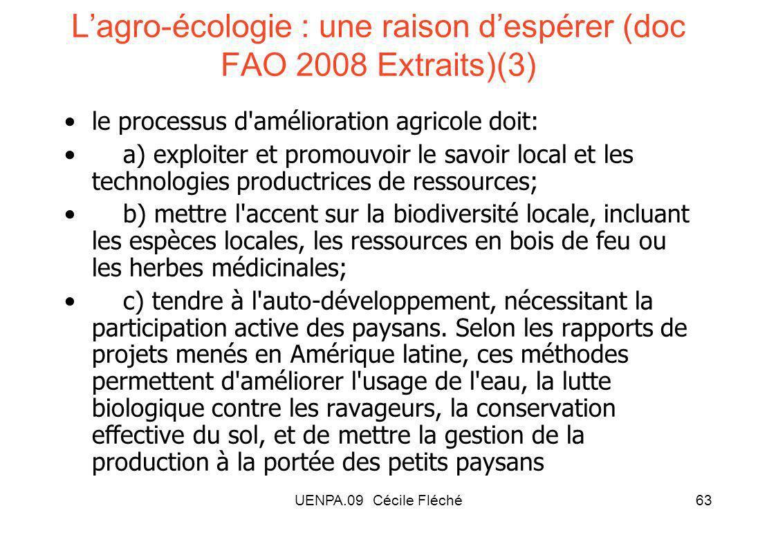 L'agro-écologie : une raison d'espérer (doc FAO 2008 Extraits)(3)