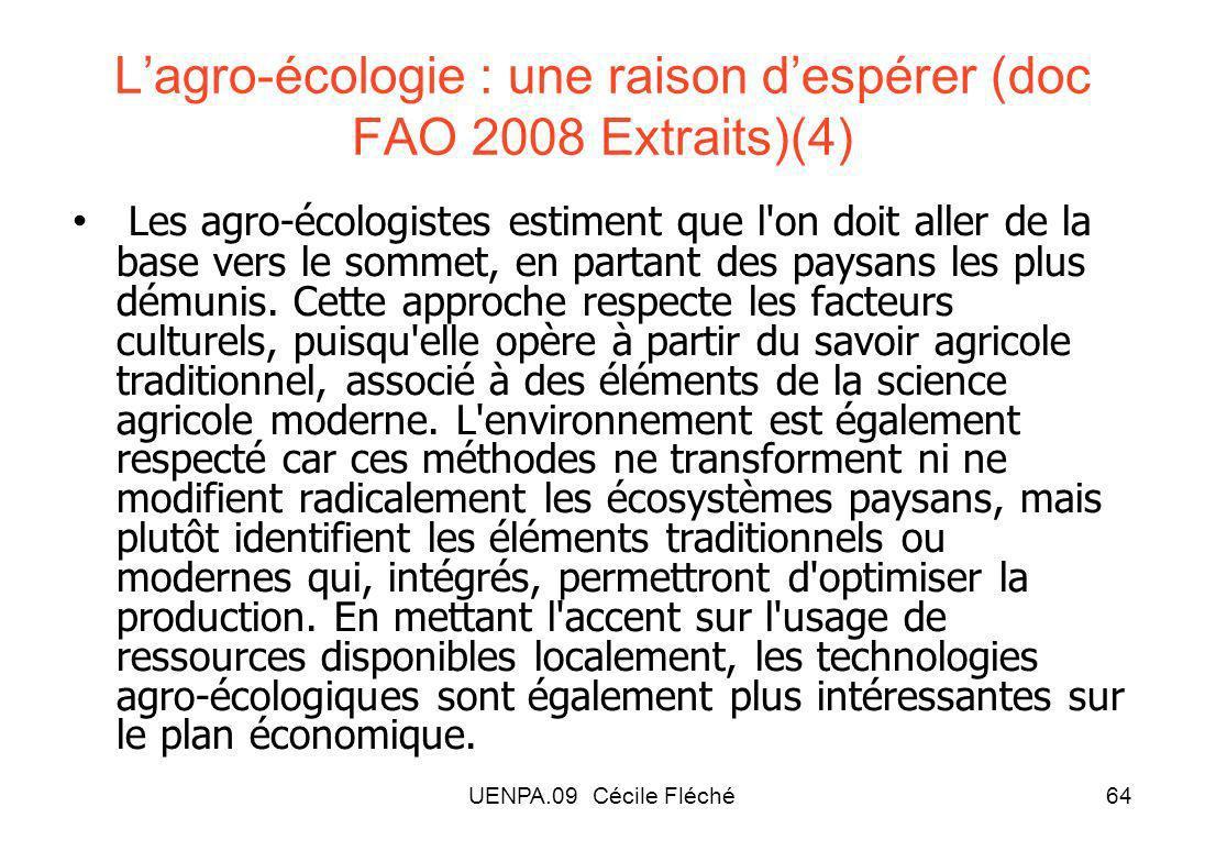 L'agro-écologie : une raison d'espérer (doc FAO 2008 Extraits)(4)