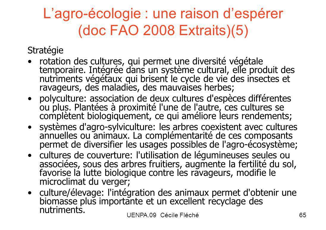 L'agro-écologie : une raison d'espérer (doc FAO 2008 Extraits)(5)