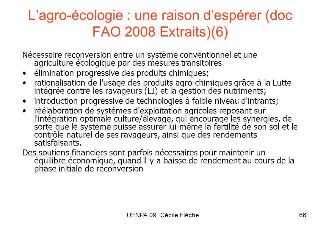 L'agro-écologie : une raison d'espérer (doc FAO 2008 Extraits)(6)