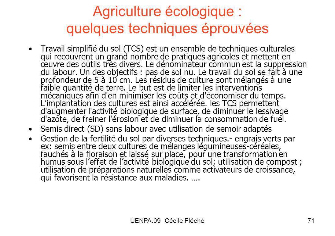 Agriculture écologique : quelques techniques éprouvées