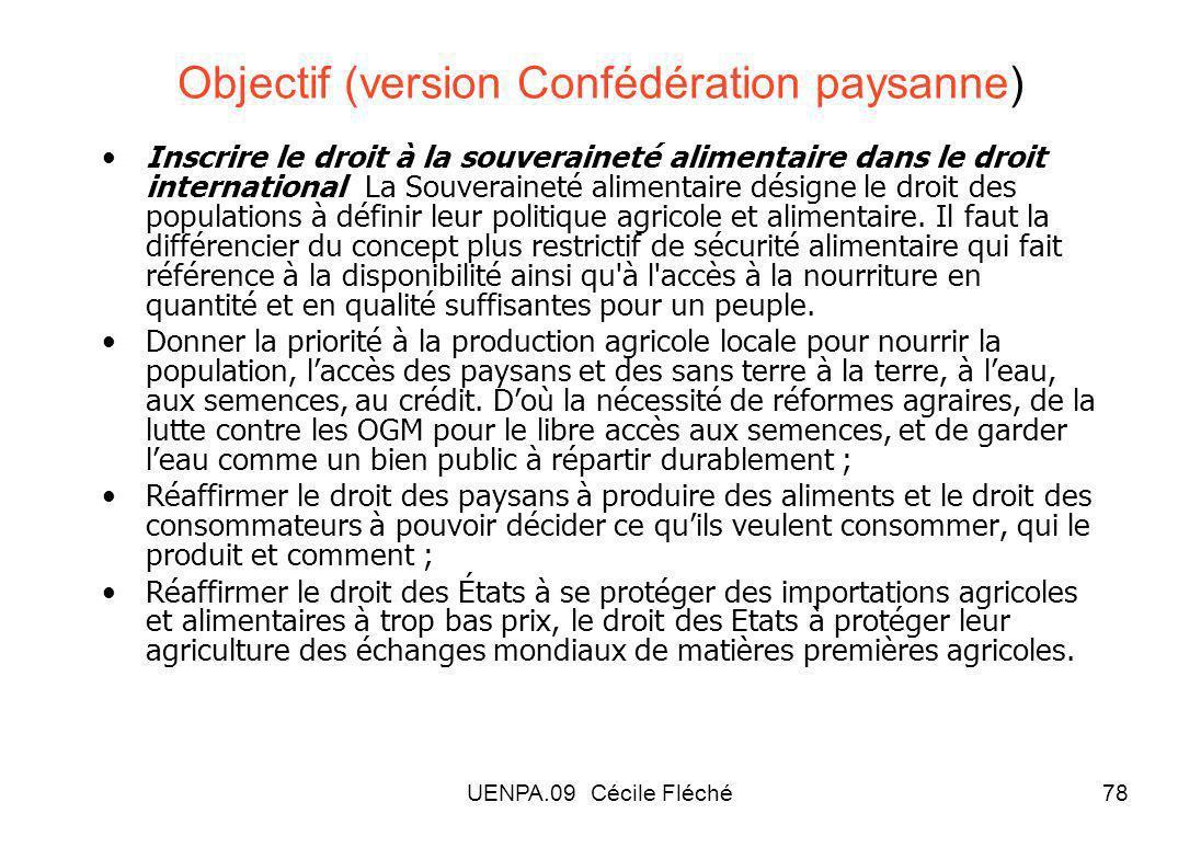 Objectif (version Confédération paysanne)