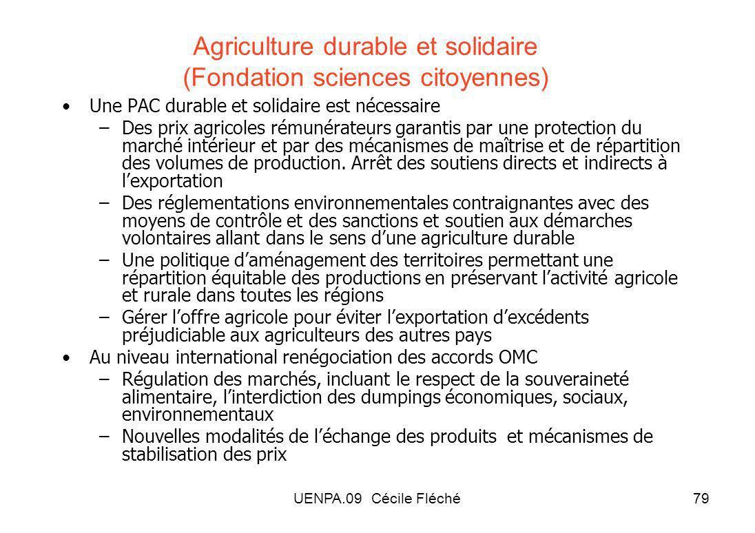 Agriculture durable et solidaire (Fondation sciences citoyennes)