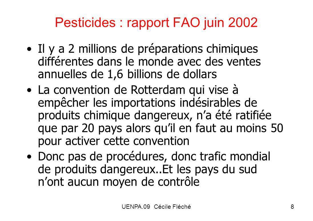 Pesticides : rapport FAO juin 2002