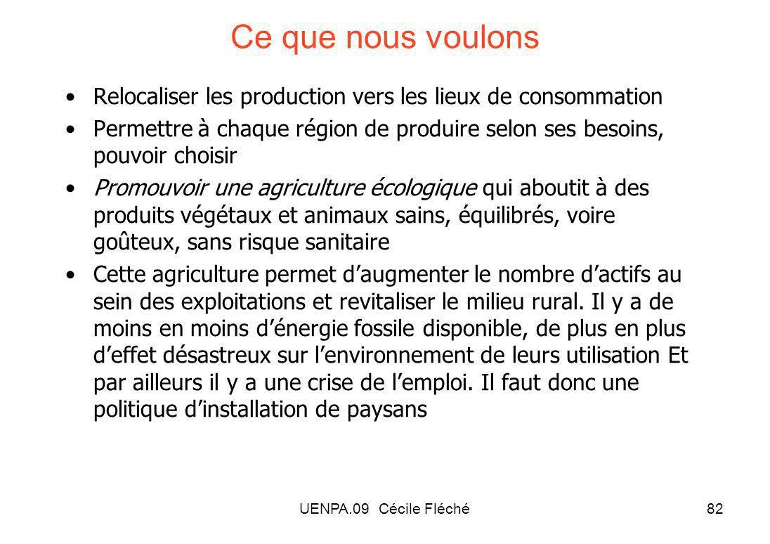 Ce que nous voulons Relocaliser les production vers les lieux de consommation.