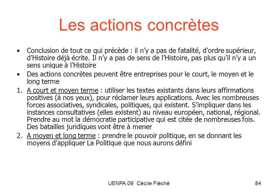 Les actions concrètes