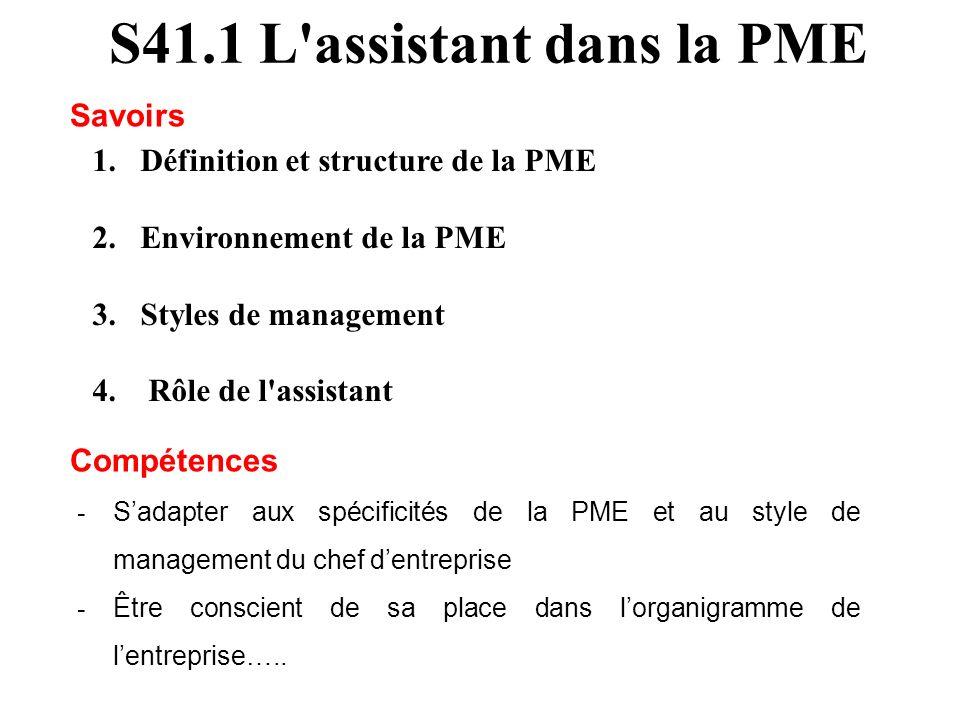 S41.1 L assistant dans la PME