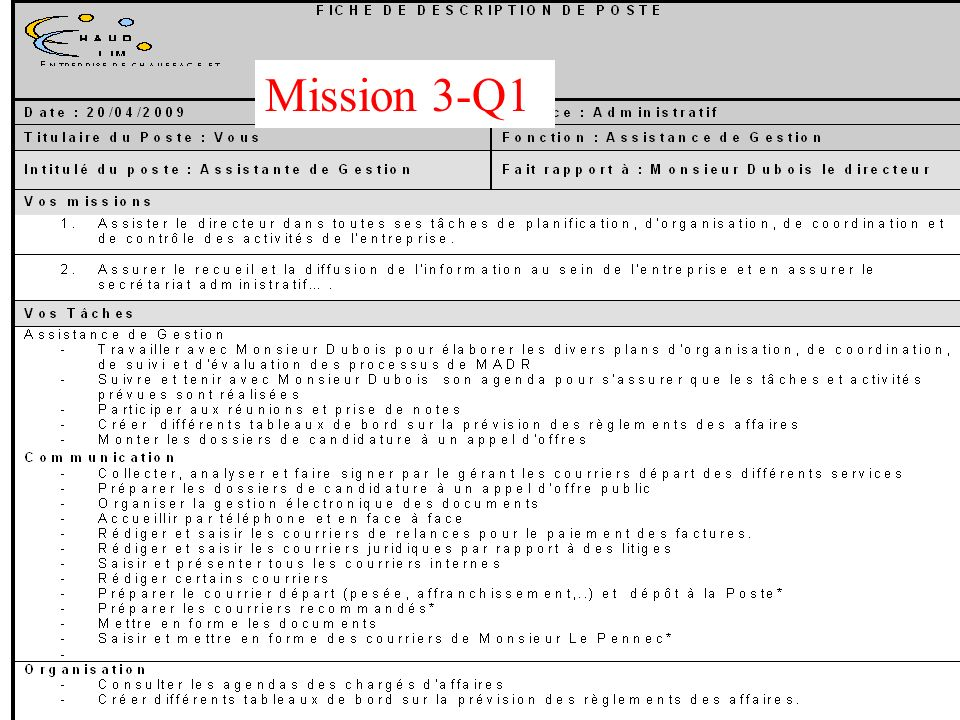 Mission 3-Q1