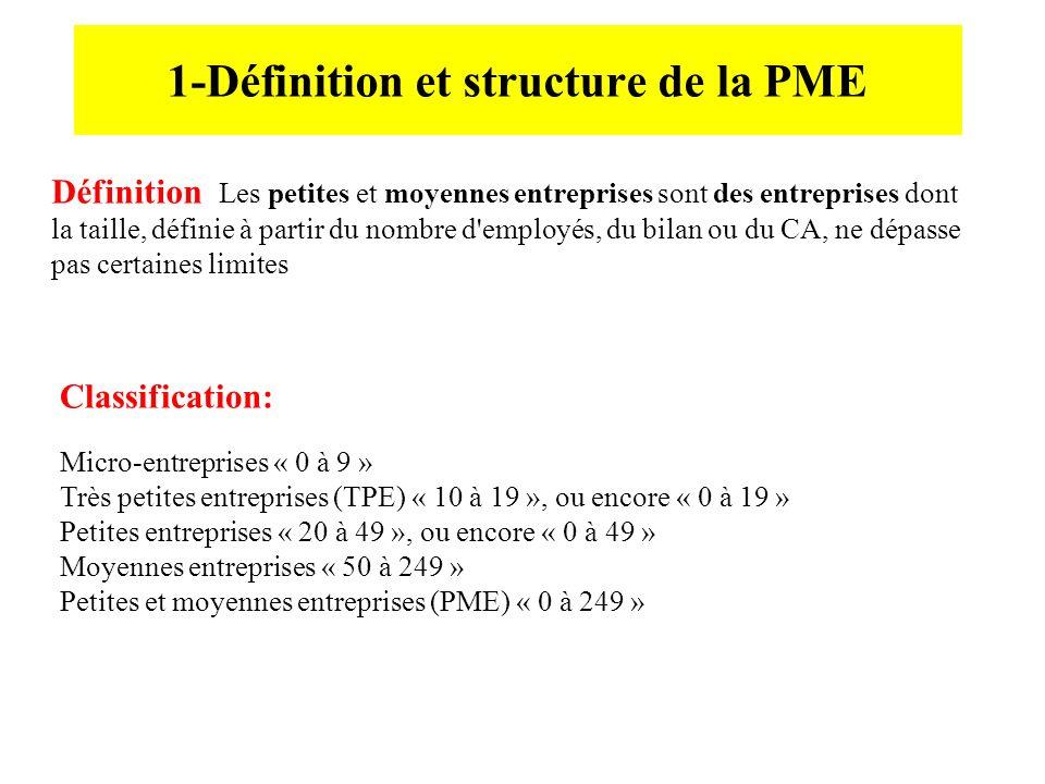 1-Définition et structure de la PME