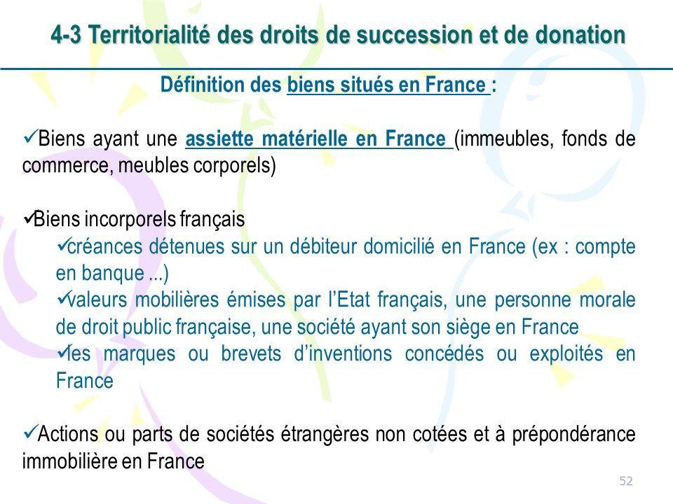 4-3 Territorialité des droits de succession et de donation