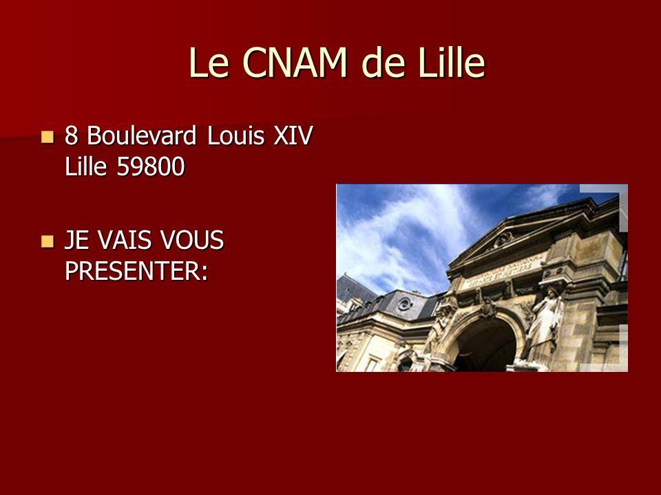Le CNAM de Lille 8 Boulevard Louis XIV Lille 59800