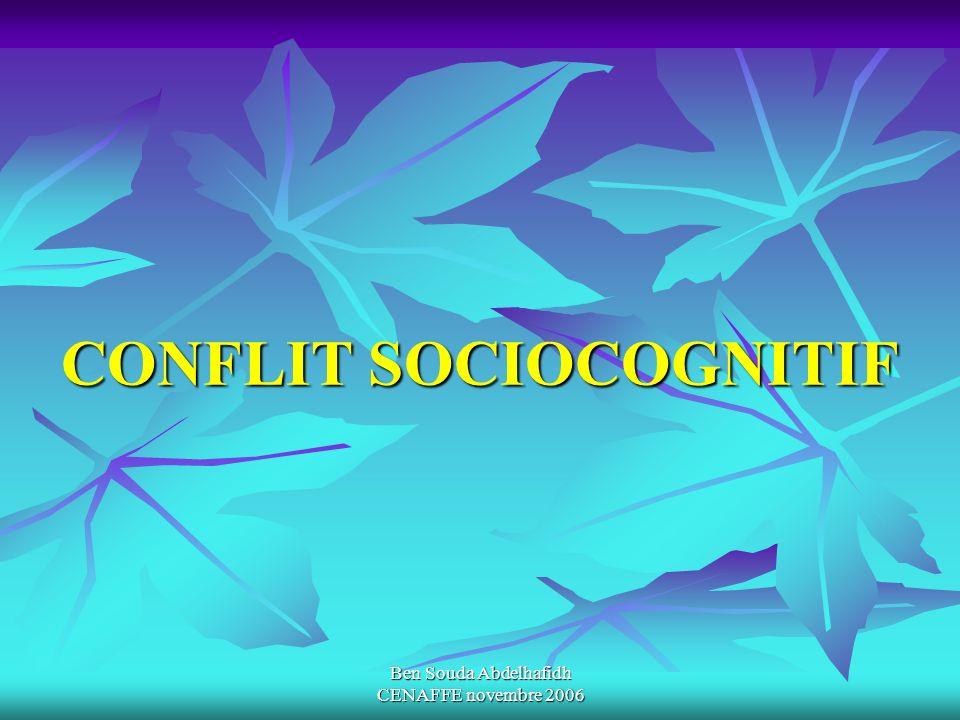 CONFLIT SOCIOCOGNITIF