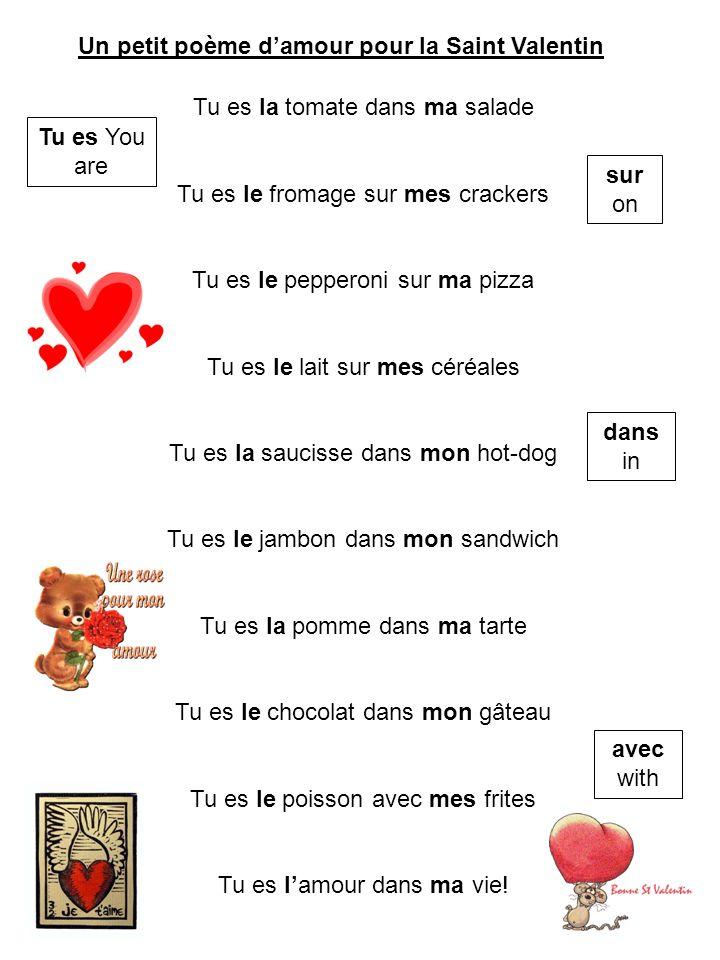 Un petit poème d'amour pour la Saint Valentin