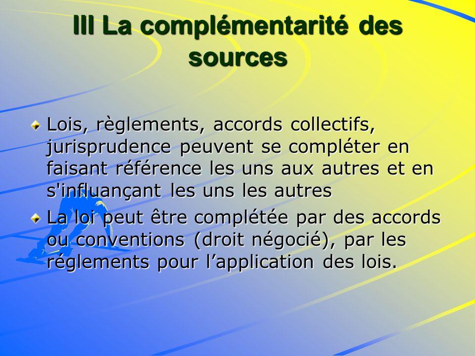 III La complémentarité des sources