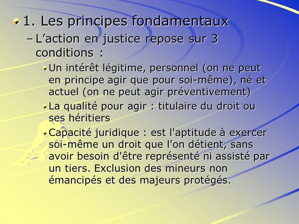 1. Les principes fondamentaux