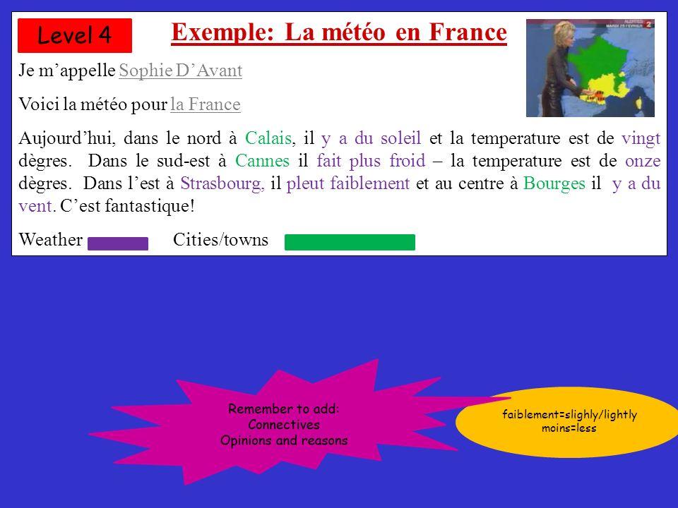 Exemple: La météo en France