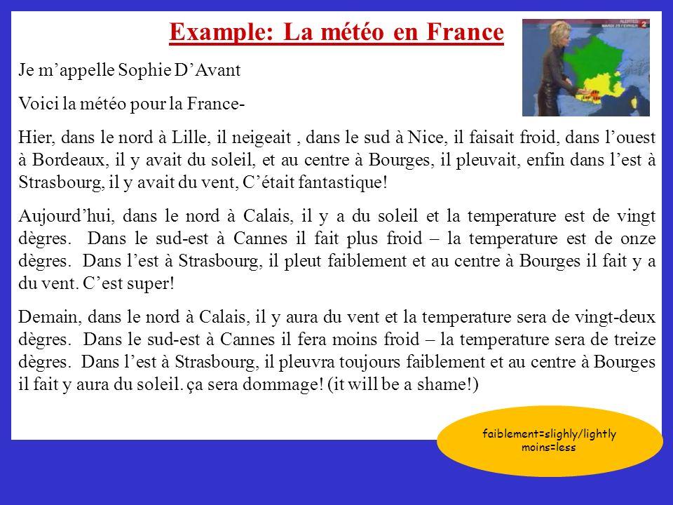 Example: La météo en France