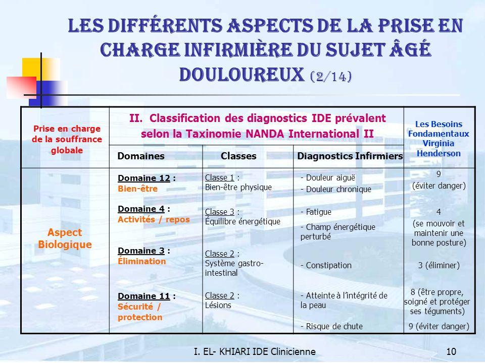 Les différents aspects de la prise en charge infirmière du sujet âgé douloureux (2/14)