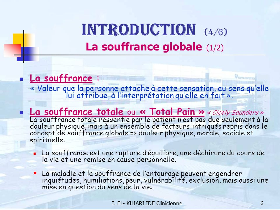 Introduction (4/6) La souffrance globale (1/2)